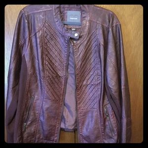 Raisin colored pleather jacket